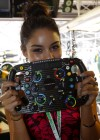 Vanessa Hudgens at F1 Caterham Team Garage in Monte Carlo