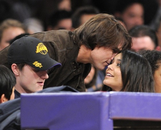 Vanessa Hudgens Candids at The Lakers Game
