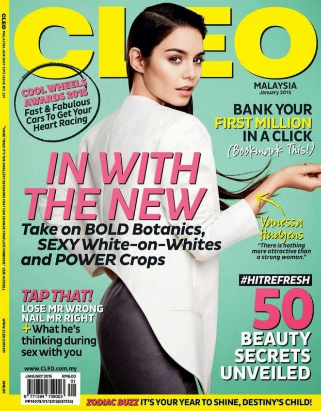 Vanessa Hudgens - Cleo Malaysia Magazine Cover (January 2015)
