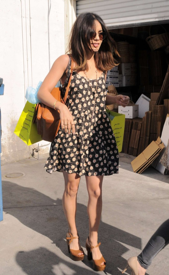 Vanessa Hudgens in Mini Dress – Leaving Planet Blue Boutique