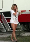 Vanessa Hudgens On the Set of Spring Breakers-02