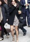 Vanessa Hudgens leggy candids at the Late Show