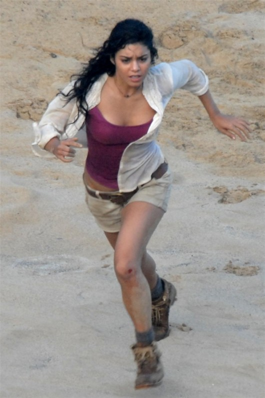 Vanessa Hudgens On set of Journey 2: The Mysterious Island in Hawaii