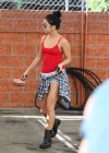 Vanessa Hudgens shows her legs in shorts in Los Angeles