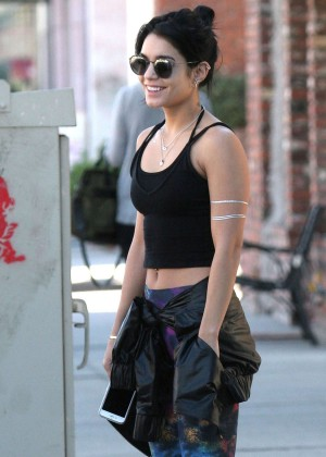 Vanessa Hudgens in Tank Top and Leggings out in Studio City