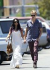 Vanessa Hudgens - with boyfriend- out of church service in Hollywood-01