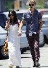 Vanessa Hudgens - with boyfriend- out of church service in Hollywood-03