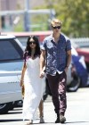 Vanessa Hudgens - with boyfriend- out of church service in Hollywood-05