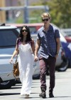 Vanessa Hudgens - with boyfriend- out of church service in Hollywood-06