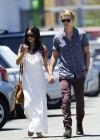 Vanessa Hudgens - with boyfriend- out of church service in Hollywood-07