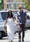 Vanessa Hudgens - with boyfriend- out of church service in Hollywood-09