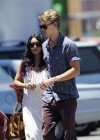 Vanessa Hudgens - with boyfriend- out of church service in Hollywood-10