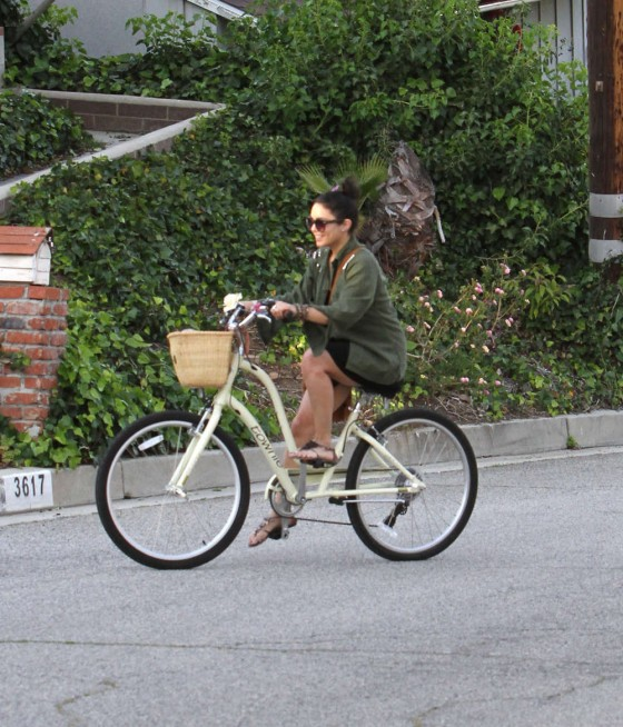 Vanessa Hudgens – Riding a Bike in Los Angeles