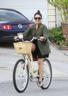 Vanessa Hudgens - Riding a Bike in Los Angeles