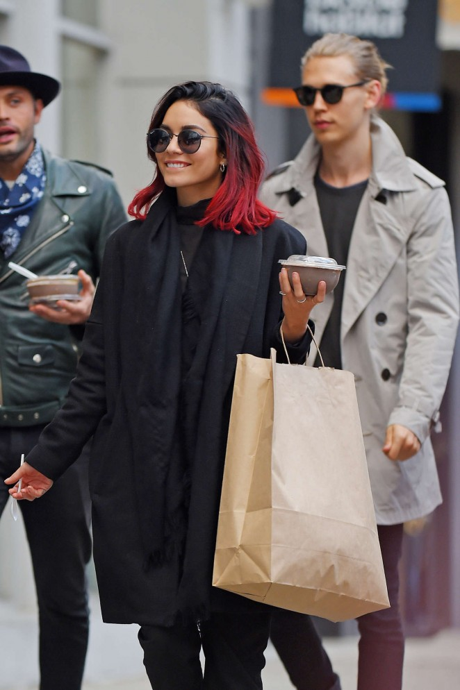 Vanessa Hudgens Street Style – out and about in Soho