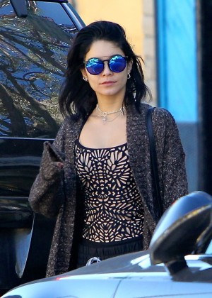 Vanessa Hudgens in Tank Top Out in LA