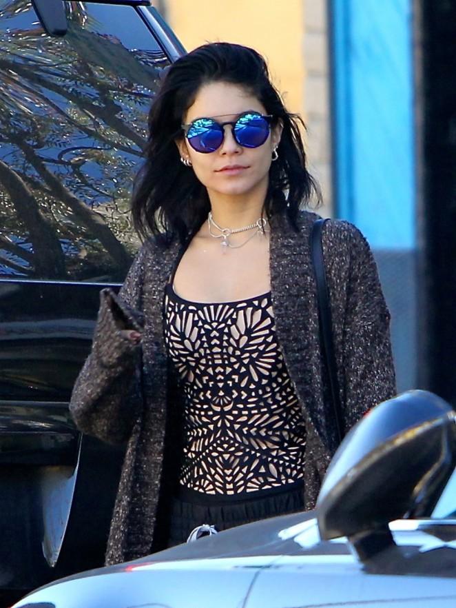 Vanessa Hudgens in Tank Top Out in LA