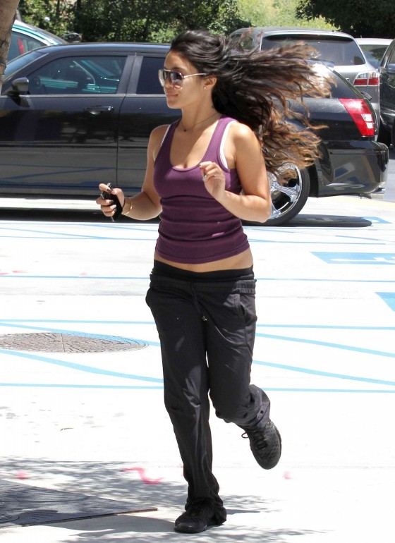 Vanessa Hudgens - Tank top outside the gym in LA