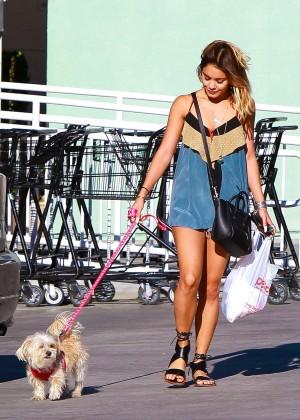Vanessa Hudgens - Walking Her Dogs