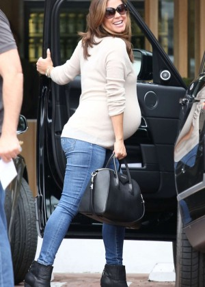 Pregnant Vanessa Lachey in Tight jeans out in LA