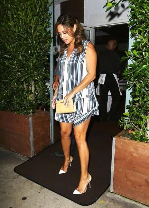 Vanessa Minnillo - Leaving Giorgio Baldi Restaurant in Santa Monica