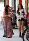 Vanessa and Stella Hudgens - Leggy Candids in Studio City-10