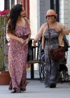 Vanessa and Stella Hudgens - Leggy Candids in Studio City-13
