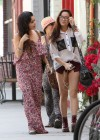 Vanessa & Stella Hudgens - Candids in Studio City