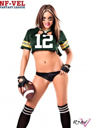 Velvet Sky: Hot In Fantasy Football Photoshoot