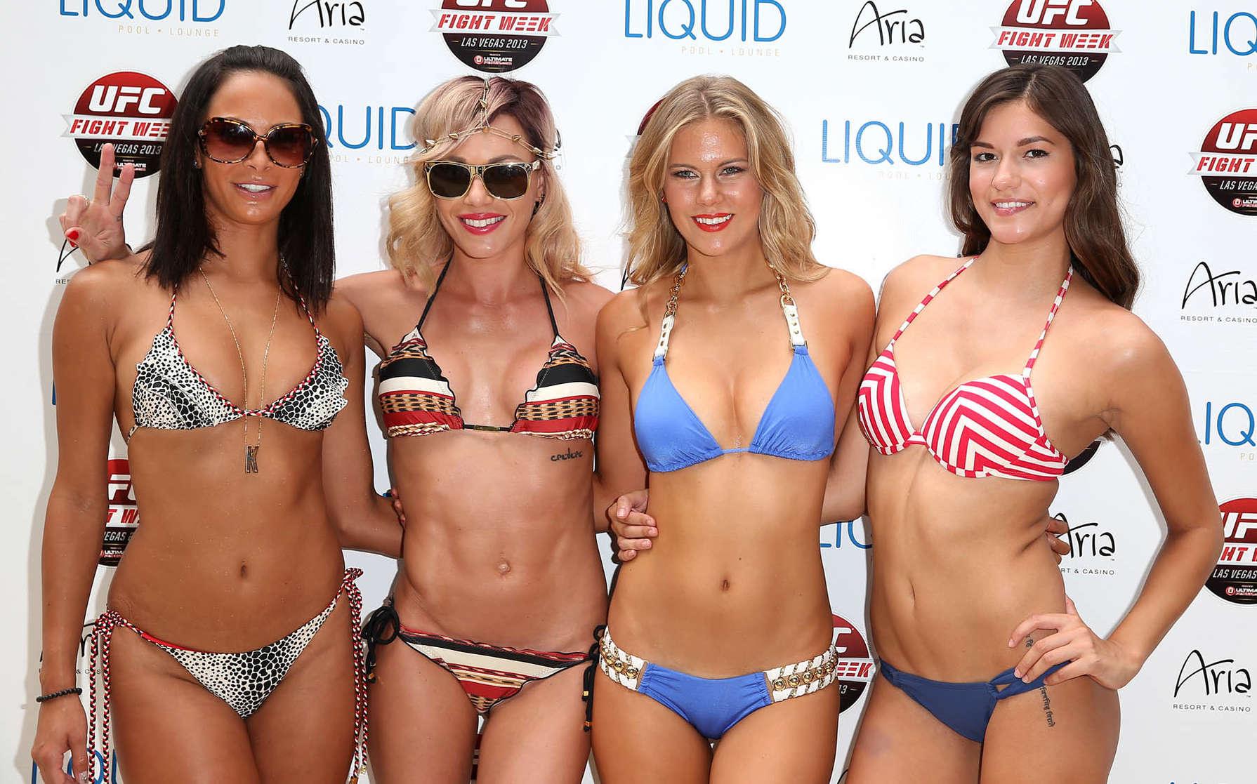 Mma Girls Wearing Bikini At Ufc Fight Week 2013 25 Gotceleb