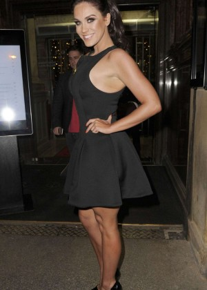 Vicky Pattison - Arrived at Rosso Restaurant in Manchester