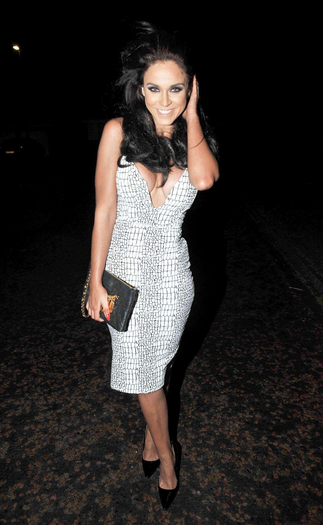 Vicky Pattison in Tight Dress Night Out in Manchester