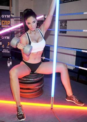 Vicky Pattison in Sports Bra -06