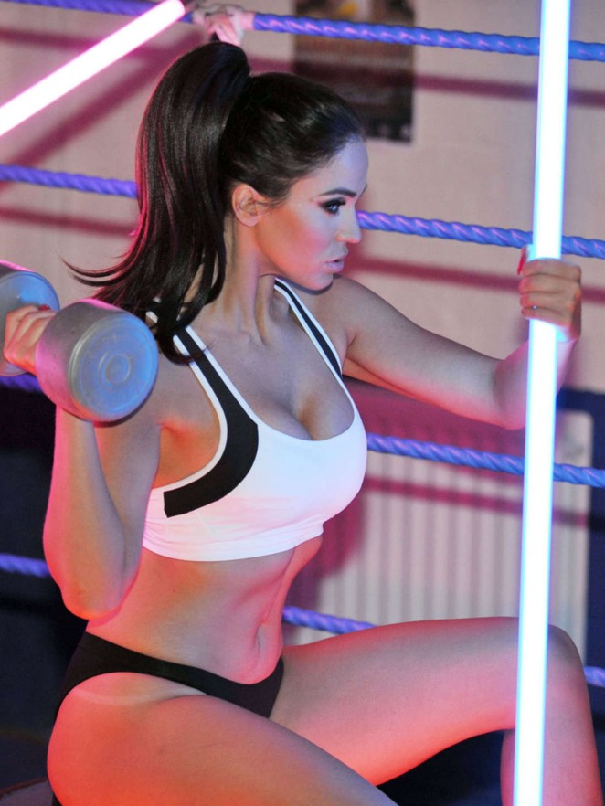 Vicky Pattison in Sports Bra at the Gym in Manchester
