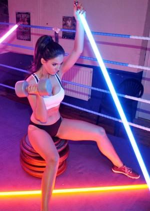 Vicky Pattison in Sports Bra -13