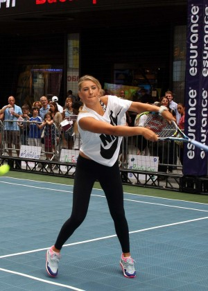 Victoria Azarenka in Spandex at eSurance Time Square Tennis Fest in NYC