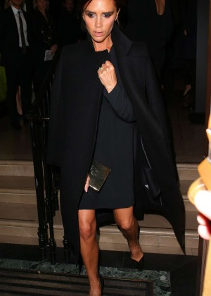 Victoria Beckham at Burberry Flagship Store in London