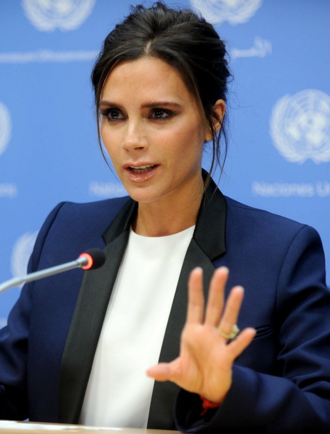Victoria Beckham - UNAIDS International Goodwill Ambassador New York City
