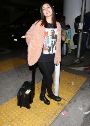 Victoria Justice at LAX in LA