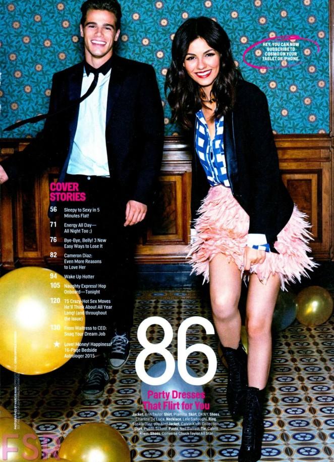 Victoria Justice - Cosmopolitan Magazine (January 2015)