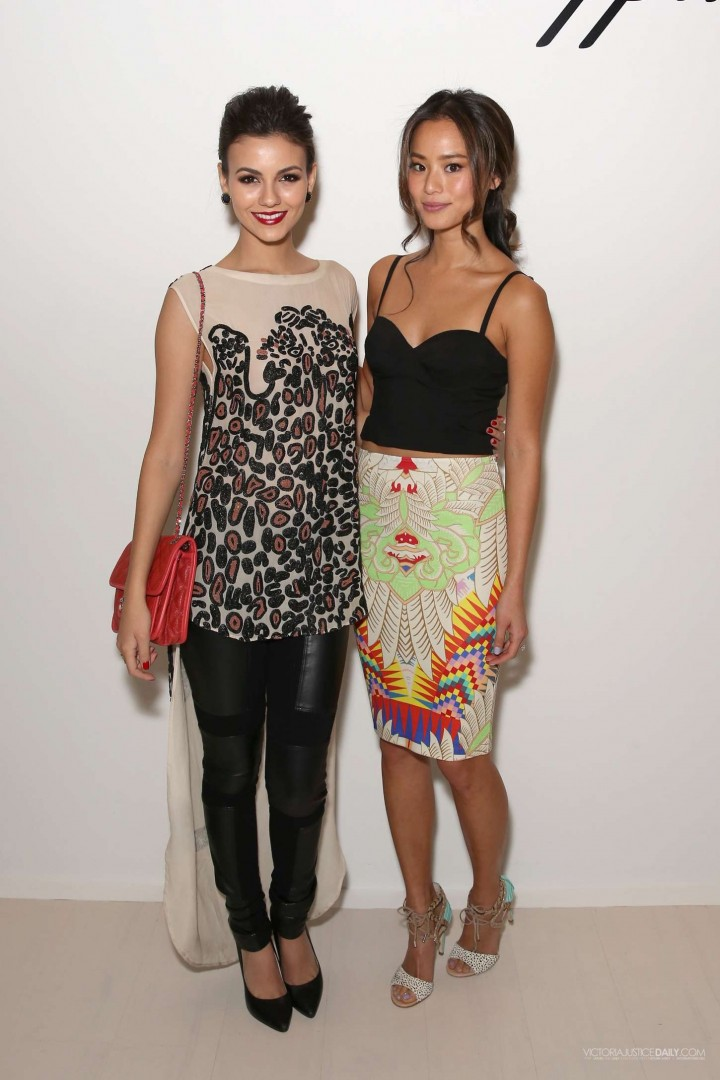 Victoria Justice: Mara Hoffman Fashion Show in New York -07