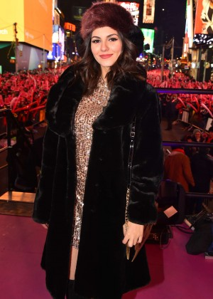Victoria Justice - NYE at Times Square in New York City