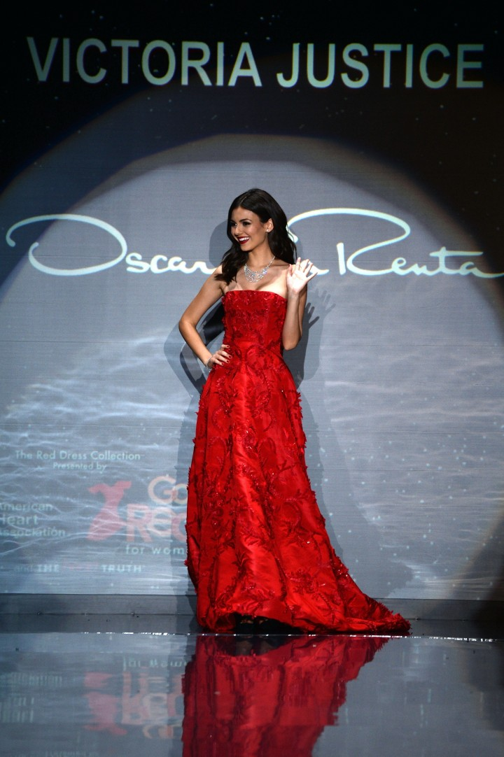 Victoria Justice: 2014 Red Dress Fashion Show -01
