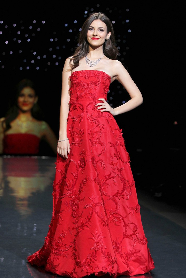 Victoria Justice: 2014 Red Dress Fashion Show -08
