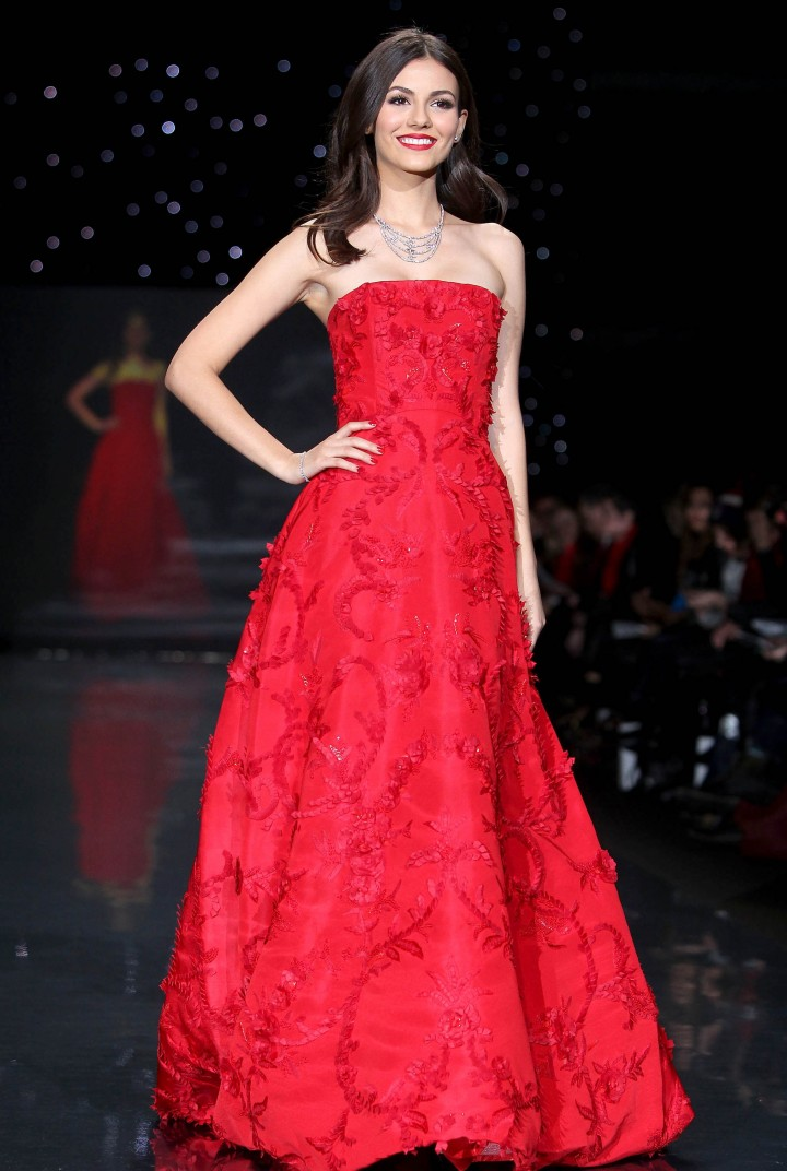 Victoria Justice: 2014 Red Dress Fashion Show -15