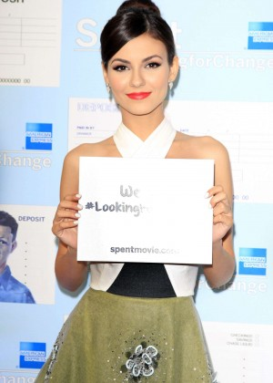 Victoria Justice - Spent: Looking for Change Premiere -07