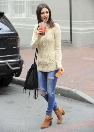 Victoria Justice Skinny Jeans out in Brooklyn