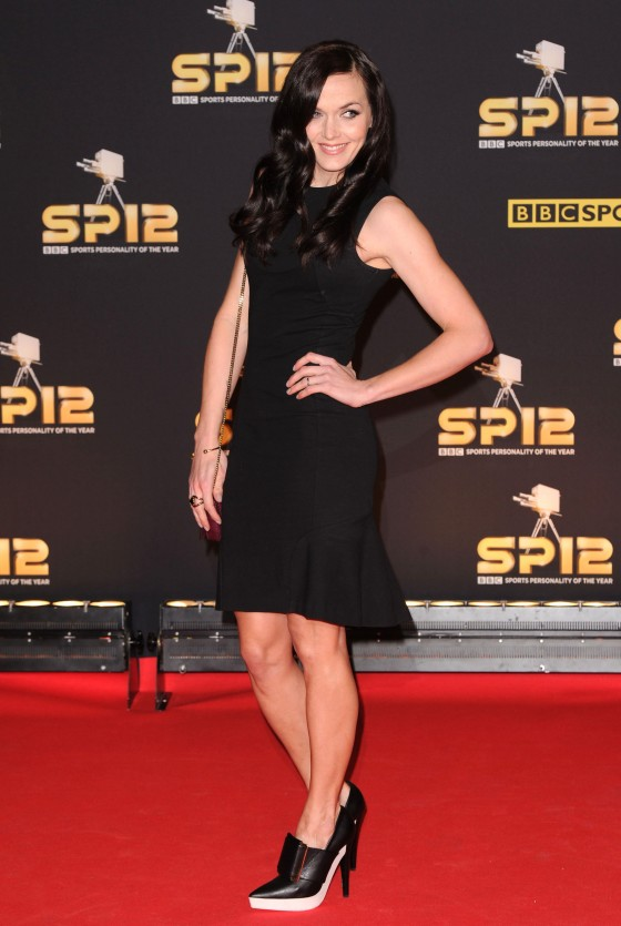 Victoria Pendleton in tight dress at 2012 BBC Sports Personality of the Year Awards in London
