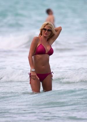 Victoria Silvstedt Bikini Pics: 2014 Miami -28