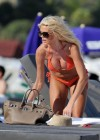 Victoria Silvstedt - Orange Bikini Candids In Miami
